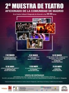 2ª Muestra de Teatro Aficionado de la Comunidad de Madrid   CC Viñagrande   Alcorcón   02/03-25/05/2018   Cartel
