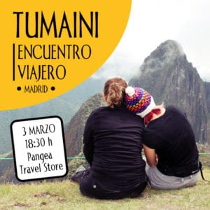 4º Encuentro Viajero Tumaini | Viajes Solidarios Tumaini | Madrid | 03/03/2018 | Pangea The Travel Store | Cartel