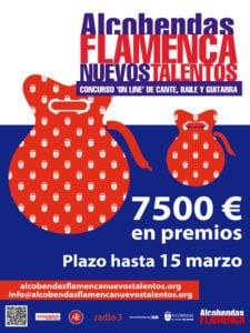 Alcobendas Flamenca Nuevos Talentos 2018 | 5º Concurso Online de Cante, Baile y Guitarra | Ayuntamiento de Alcobendas | Inscripciones hasta 15/03/2018 | Cartel