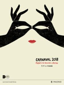 Carnaval Madrid 2018 | Puente de Vallecas y Retiro | 09 al 14/02/2018 | Cartel