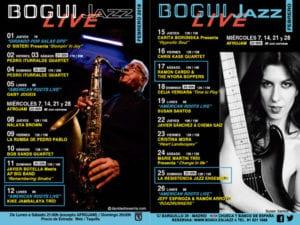 Conciertos febrero 2018 Bogui Jazz | Madrid | Cartel programación