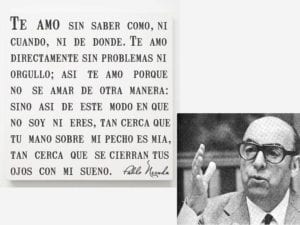 Día Mundial de la Poesía 2018 | UNESCO | 21 de marzo | 'Te amo sin saber cómo ni cuándo ni dónde...' | Pablo Neruda