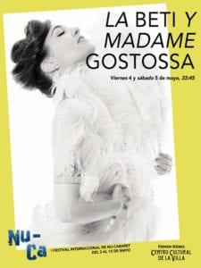 1er Festival Internacional NU-CA | Fernán Gómez-Centro Cultural de la Villa | Madrid | 03 al 13/05/2018 | La Beti y Madame Gostossa | Sala Jardiel Poncela | 04 y 05/05/2018