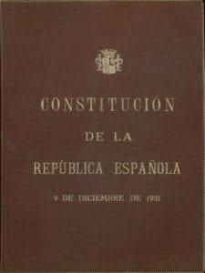 Constitución de la República Española   9 de diciembre de 1931   Portada