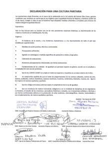 Declaración para una Cultura Paritaria | Asociaciones de Mujeres | Madrid | 07/03/2018 | Documento firmado
