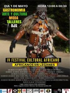 Programación 3ª Semana de Festimad 2018 | 30/04 - 06/05/2018 | 4º Festival Cultural Africano | Africanos en Leganés | Cartel | 01/05/2018