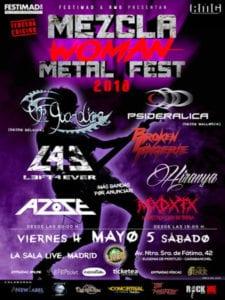 Programación 3ª Semana de Festimad 2018 | 30/04 - 06/05/2018 | Mezcla Woman Fest | Cartel | 04 y 05/05/2018