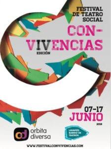 Festival Con-Vivencias 2018 de Teatro Social | Órbita Diversa y Lavapiés Barrio de Teatros | 07-17/06/2018 | Barrio de Lavapiés | Madrid | Cartel