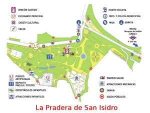 Fiestas de San Isidro 2018 | Madrid | Del 11 al 15/05/2018 | Plano de La Pradera de San Isidro