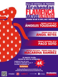 Gala de Entrega de Premios Alcobendas Flamenca Nuevo Talentos 2018 | Auditorio Paco de Lucía | Centro de Arte Alcobendas | 25/05/2018 | Alcobendas | Comunidad de Madrid | Cartel