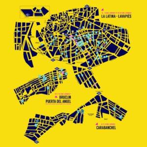 Los Artistas del Barrio 2018 | La Latina, Lavapiés. Puerta del Ángel y Carabanchel | 02, 03, 09 y 10/06/2018 | Mapa talleres participantes
