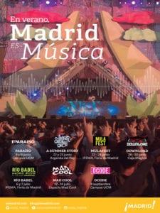 En verano, Madrid es música | Turismo del Ayuntamiento de Madrid | Verano 2018 | Cartel