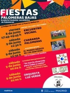 Fiestas de Palomeras Bajas 2018 | 08 y 09/06/2018 | Puente de Vallecas | Madrid | Cartel