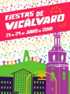 Fiestas de Vicálvaro 2018 | 21-24/06/2018 | Vicálvaro | Madrid | Cartel Sebastián Giménez
