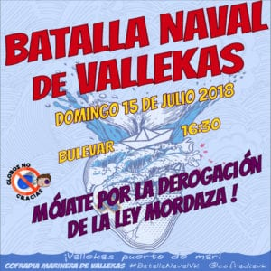 37ª Batalla Naval de Vallekas 2018 | Bulevar - Payaso Fofó | Puente de Vallecas | Madrid | 15/07/2018 | Cartel