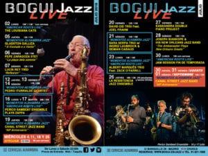 Conciertos julio 2018 Bogui Jazz | Madrid | Cartel