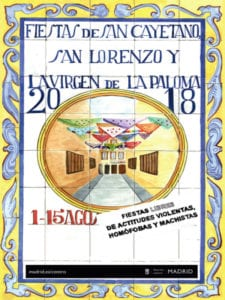 Fiestas de San Cayetano, San Lorenzo y La Paloma 2018 | Centro – Madrid | 01-15/08/2018 | Cartel