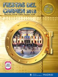 Fiestas del Carmen 2018 | Puente de Vallecas | Madrid | 11-16/07/2018 | Cartel