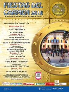 Fiestas del Carmen 2018 | Puente de Vallecas | Madrid | 11-16/07/2018 | Programa