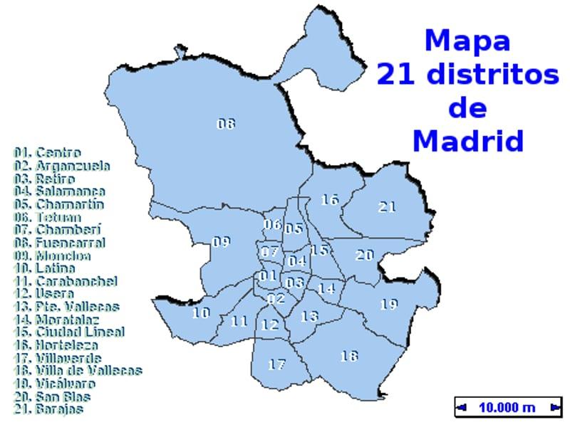 Mapa Comunidad De Madrid Por Codigos Postales.Todos Los Barrios De Madrid Pongamos Que Hablo De Madrid