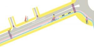 Nuevo carril bici para mejorar la movilidad en Arganzuela, Centro y Moncloa-Aravaca | Esquema