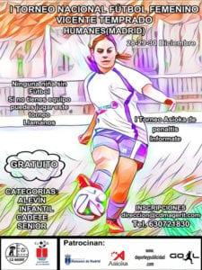 1er Torneo Nacional de Fútbol Femenino 'Vicente Temprado' | 28-30/12/2018 | Humanes de Madrid | Cartel