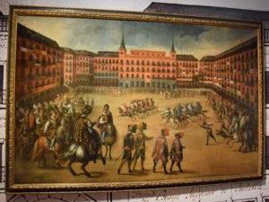 Exposición La Plaza Mayor. Retrato y máscara de Madrid | 400 años | Museo de Historia de Madrid | Mayo - Noviembre - 2018 | Fiesta en la Plaza Mayor de Madrid (Juan de la Corte)