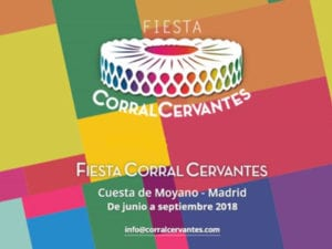 Fiesta Corral Cervantes, Madrid 2018 | Cuesta de Moyano | Retiro | Junio - Agosto 2018 | Cartel