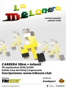 23ª Carrera Popular La Melonera 2018 | Arganzuela - Triboost | 30/09/2018 | Madrid | Cartel