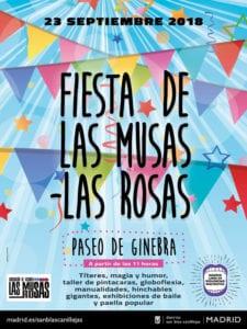 Fiesta de Las Musas - Las Rosas 2018 | San Blas - Canillejas | Madrid | 23/09/2018 | Cartel