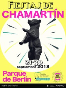 Fiestas de Chamartín 2018 | Parque de Berlín | 21-30/09/2018 | Chamartín | Madrid | Cartel