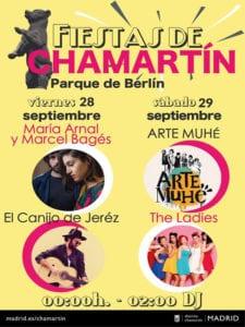 Fiestas de Chamartín 2018 | Parque de Berlín | 21-30/09/2018 | Chamartín | Madrid | Cartel conciertos