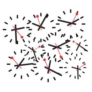 Sostener el infinito en la palma de la mano | Eugenio Ampudia | Sala Alcala 31 | Comunidad de Madrid | 13/09-04/11/2018 | Instalación 'Laberinto de relojes' (2018)