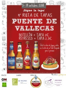 4ª Ruta de Tapas de Puente de Vallecas 2018 | ¡Sigue la Tapa! | 05-14/10/2018 | Puente de Vallecas | Madrid | Cartel