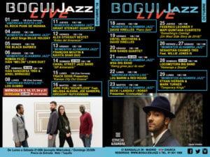 Conciertos octubre 2018 Bogui Jazz | Madrid | Cartel programación