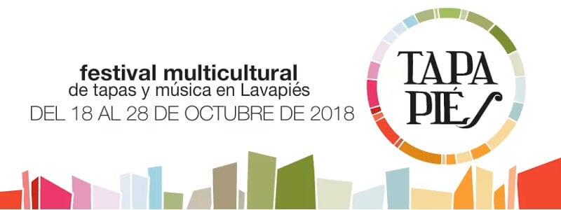 Tapapiés 2018 | 8º Festival Multicultural de la Tapa y la Música de Lavapiés | 18-28/10/2018 | Cartel