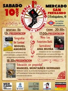 1ª Feria del Libro Libertario de Lavapiés | 10/11/2018 | Mercado de San Fernando | Madrid | Cartel