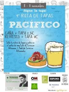 4ª Ruta de Tapas de Pacífico | 08-11/11/2018 | Retiro | Madrid | Cartel