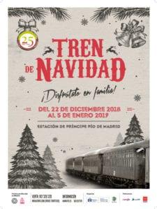Navidad en el Museo del Ferrocarril de Madrid | 22/12/2018 - 05/01/2019 | Delicias | Arganzuela | Madrid | Tren de Navidad 2018-2019 | Cartel