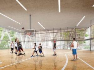 Polideportivo La Cebada: paso final | Plaza de la Cebada | Barrio de La Latina | Centro | Madrid | Cancha de baloncesto