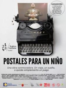 Postales para un niño | Cía de Teatro MÁS | 22/12/2018 - 04/01/2018 | Teatros Luchana | Chamberí | Madrid | Cartel