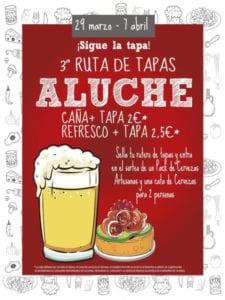 3ª Ruta de Tapas de Aluche 2019 | Latina | Madrid | Cartel