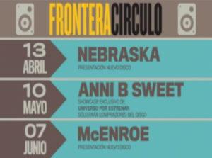 11ª Frontera Círculo | Abril, mayo, junio 2019 | Nebraska,Anni B Sweet, McEnroe | Círculo de Bellas Artes | Madrid